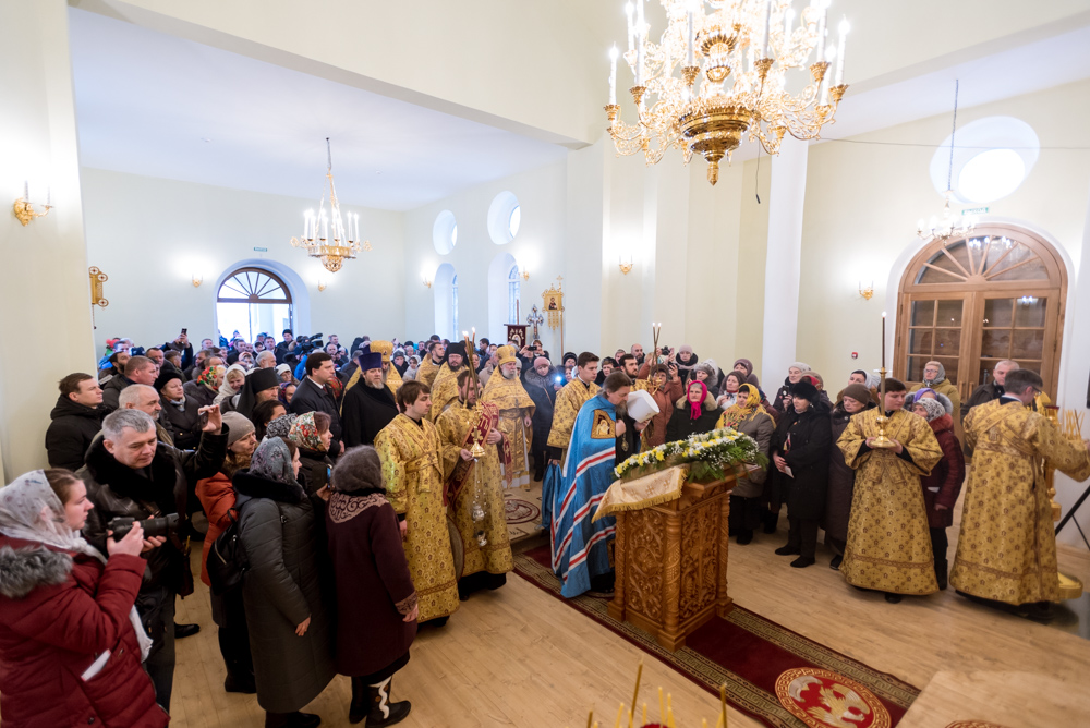 Митрополит Иоанн совершил чин освящения храма в честь святителя Василия Великого